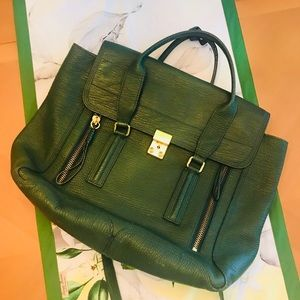 Philip Lim 3.1 Pashil Satchel Large Emerald Green